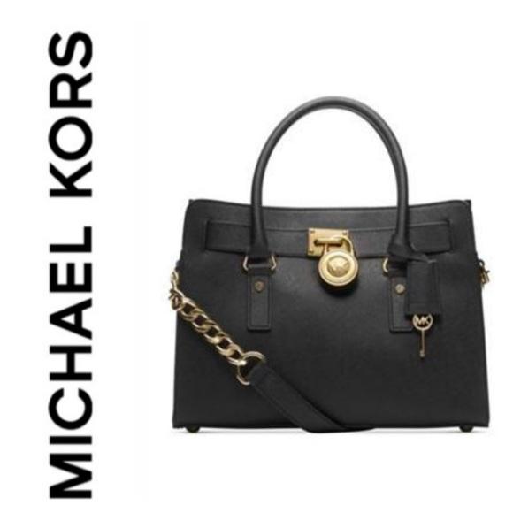 Michael Kors Bags   New Authentic Mk Saffiano Leather Hamilton ... 6711a725b7